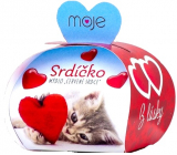 NeoCos Heart red gift soap in a box of 35 g