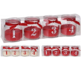 Emocio Candle with advent numbers glass mix 267 x 68 mm 4 pieces