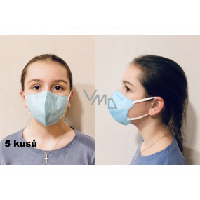 Crdlight Respirator FFP2 face mask for children light blue 5 pieces