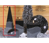 Lima Artic candle black pyramid 75 x 250 mm 1 piece