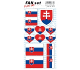 Arch Tattoo Decals for face and body Slovakia Republic Flag 8 x 15 cm 1 piece