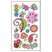 Tetovací obtisky barevné dětské motýlci 15 x 8,5 cm