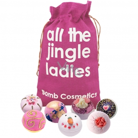 Bomb Cosmetics Modern Princess - All the Jingle Ladies mix ballistics 7 x 160 g, cosmetic set