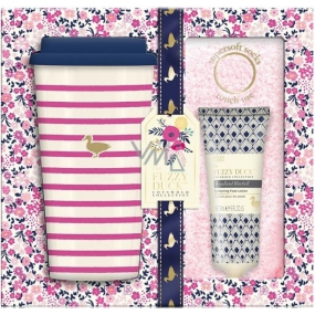 Baylis & Harding Wood Bell and Flower Meadow travel mug + super soft pink socks + foot lotion 50 ml, cosmetic set