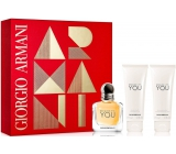 Giorgio Armani Emporio Because Its You Perfumed Water for Women 50 ml + Shower Gel 75 ml + Body Milk 75 ml, Gift Set