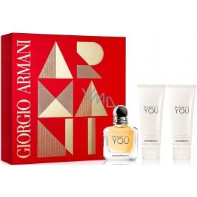 Giorgio Armani Emporio Because Its You Eau de Parfum for Women 50 ml + shower gel 75 ml + body lotion 75 ml, gift set