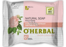 About Herbal Natural Damask rose and red clay natural toilet soap 100 g