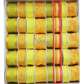 Ditipo Fabric ribbon with wire yellow-orange, stripe 3 mx 25 mm