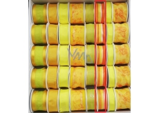 Ditipo Ribbon fabric with wire 3 mx 25 mm yellow orange stripe
