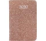 Albi Diary 2020 mini Pink glitter 11 x 7.5 x 1 cm