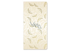Ditipo Greeting card money envelope gold, Feathers 100 x 200 mm