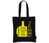 Nekupto Do not plastic Shopping bag cotton, Beer, stuffing, onion, vinegar, bread 38 x 40 x 10 cm