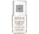 Gabriella Salvete Nail Care Gel 2in1 Top and Base Coat gel top coat for nails 11 ml