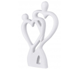 Emocio Wooden decoration heart pair white 120 x 20 x 200 mm