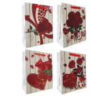 Emocion Gift paper bag 260 x 320 mm Heart, rose 1 piece