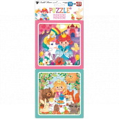Princess puzzle 15 x 15 cm, 16 and 20 pieces, 2 pictures