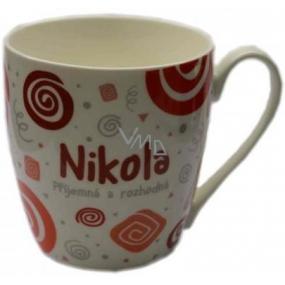 Nekupto Twister mug named Nikola red 0.4 liter