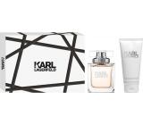 Karl Lagerfeld Eau de Parfum parfémovaná voda pro ženy 85 ml + tělové mléko 100 ml, dárková sada