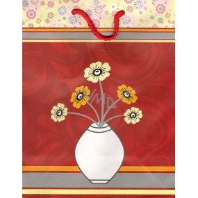Nekupto Gift paper bag Big BL Flower in weight 32,5 x 26 x 13 cm