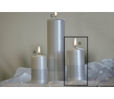 Lima Ribbon candle pearl cylinder 60 x 120 mm 1 piece