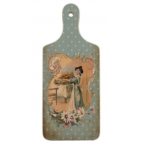 Bohemia Gifts Decorative cutting board Retro lady in blue 28 x 12 cm