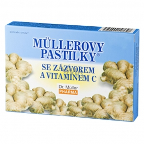 Müller's lozenges with ginger and vitamin C for colds, stomach problems for travel sickness 12 pieces