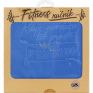 Albi Fitness Towel When I can't blue 90 x 50 cm