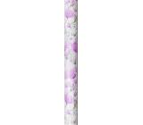 Nekupto Gift wrapping paper 70 x 150 cm Purple flowers 995 40