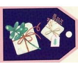 Nekupto Christmas gift cards Two gifts 5.5 x 7.5 cm 6 pieces