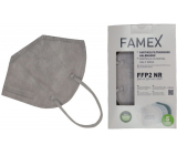 Famex Respirator oral protective 5-layer FFP2 face mask gray 1 piece