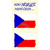 Arch Tattoo decals for face and body Czech flag 2 motif