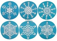 Crochet snowflake large with glitter 29 cm, 6 motifs