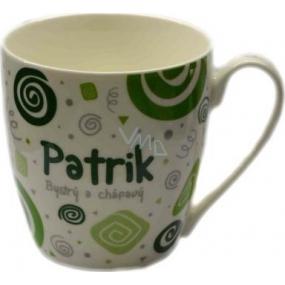 Nekupto Twister mug named Patrik green 0.4 liter