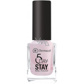 Dermacol 5 Day Stay Long-lasting nail polish 02 Sugar Sweet 11 ml