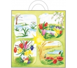 Bag of igel.s with ear 48x45x6 cm 765-02 Spring flowers 0021