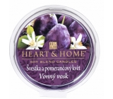 Heart & Home Plum and orange flower Soy natural scented wax 27 g