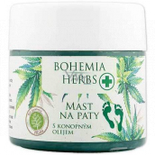 Bohemia Gifts Herbs Cannabis ointment for heels with hemp oil 120 ml