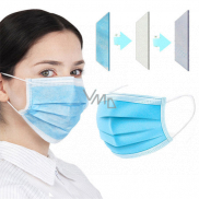 3-layer Premium non-woven disposable medical protective mask low breathing resistance 1 piece