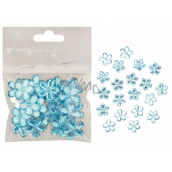 Self-adhesive flowers blue 2 cm 20 pieces