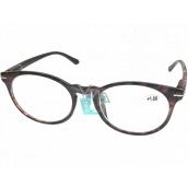 Berkeley Reading glasses +2.0 plastic violet-brown, round lenses 1 piece MC2171