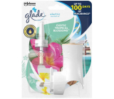Glade Electric Scented Oil Exotic Tropical Blossoms fragrance with tones of monoi flowers and coconut milk electric air freshener shaver with liquid filling 20 ml