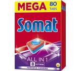 Somat All In 1 8 Actions dishwasher tablets with citric acid strength for clean and radiant dishes 80 pieces