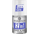 Essence 2in1 Base & Top Coat base and top coat for nails 8 ml