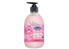 On Line Kids Time Jahoda tekuté mýdlo pro děti 500 ml