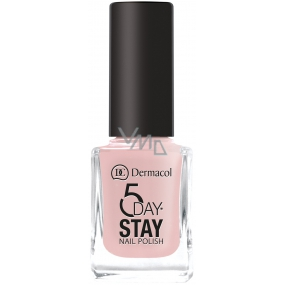 Dermacol 5 Day Stay Long-lasting nail polish 07 Tea Rose 11 ml