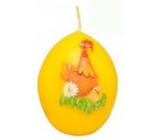 Zvířátka Slepičky velikonoční svíčka žlutá vajíčko 54 g
