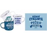 Albi Tin mug with the inscription Cyclist 250 ml