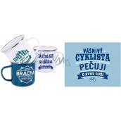Albi Metal mug with Cyclist 250 ml