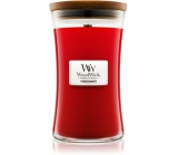 WoodWick Pomegranate - Pomegranate scented candle with wooden wick and lid glass large 609.5 g