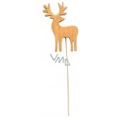 Wooden Reindeer 8 cm Brown + Wire 4027 8722